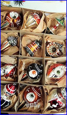 12 antique german glass christmas ornaments apple core ice cream cone top ind