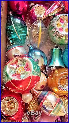 150 Huge Lot Vintage/Antique Glass Christmas Ornaments USA ...