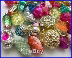50 Big Set Antique Vintage Russian Glass USSR Soviet Christmas Xmas Ornaments