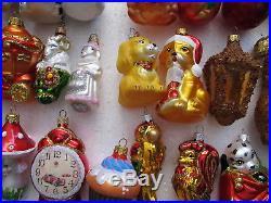 50 pcs lot # 3 Christmas ornaments glass hand painted UKRAINE 2 6.5
