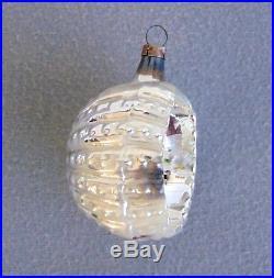 7 Rare Antique German Glass Christmas Tree Ornaments ...