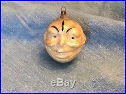 ANTIQUE German Figural Christmas Ornament Face Japanese Man Clown Face No Res NR