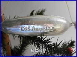 Antique German Blown Glass Christmas Tree Ornament Graf Zeppelin Blimp