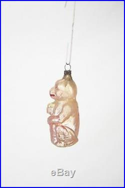 Antique German Blown Glass Monkey Christmas Ornament ca1910