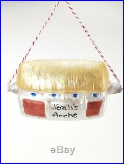 Antique German Blown Glass Rare Noahs Ark Christmas Ornament ca1920
