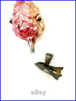 Antique German Clip On Blown Glass Figural Christmas Tree Wire Mercury Ornaments