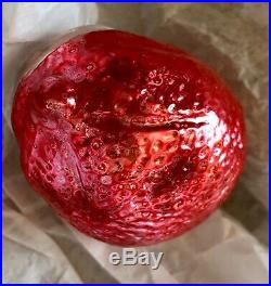 Antique VTG Red Riding Hood Pointed Chin Figural German Glass Christmas Ornament