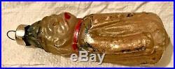 Antique Vintage Bismark German Glass Figural Feather Tree Christmas Ornament
