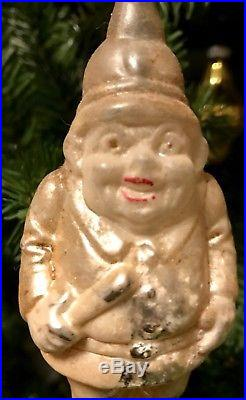 Antique Vintage Large Size Keystone Cop Glass German Figural Christmas Ornament