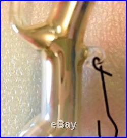 Antique Vintage Silver Running Dog Art Glass German Figural Christmas Ornament