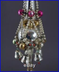 Antique beaded christmas tree topper, ca. 1930 (# 11508)