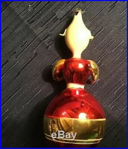 Box Lot Of 4 Large Italian Vintage Christmas Glass Blown Ornaments