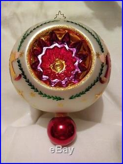 Christopher Radko Fantasia Set of 3 Blown Glass Christmas Ornaments in box 6