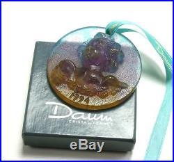 Daum Angel Cherub Pate De Verre Glass Crystal Christmas Ornament De Noel 1994