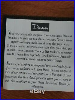 Daum France Crystal Angel Christmas Ornament