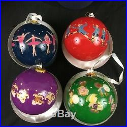 Dillards 12 Days Of Christmas Ornaments Set Glass Balls Hand Painted Interiors Christmas Ornament Glass