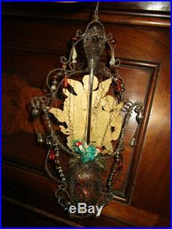 Exquisite antique Christmas tree ornament/Gablonz, Art Nouveau/Victorian
