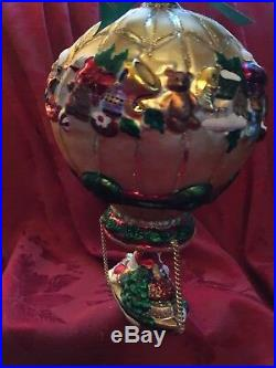 FLAWLESS Stunning WATERFORD Balloon SET SAIL FOR CHRISTMAS Ornament LTD EDITION