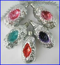 FOR mango90 ONLY Set 34 Vintage XMAS Decor CHRISTMAS Ornament Russia USSR Glass