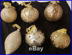 Frontgate Holiday Ornaments christmas ornaments boxed set of 6 NEW