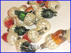 German Acorn Glass Bead Garland String Antique Figural Christmas Ornament 1900's