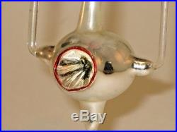German Antique Chandelier Double Indent Figural Glass Christmas Ornament 1930's