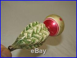 German Antique Glass Tree On A Ball Vintage Christmas Ornament Decoration 1900's