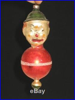 German Antique Hans Head Figural Glass Christmas Ornament Decoration 1900's