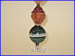 German Antique Hans Head Figural Glass Christmas Ornament Decoration 1930's
