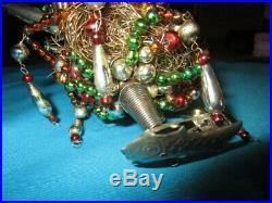 Gorgeous delicate antique Christmas tree ornament -nesting Swan Glass- Gablonz