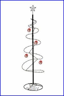 HOHIYA Metal Ornament Display Tree Stand Spiral Hook Hanger Christmas Xmas Ball