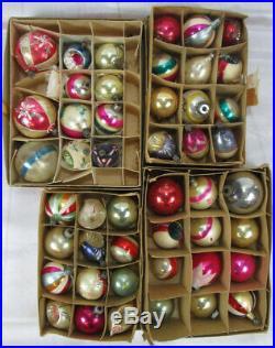 HUGE LOT 179 Vtg Christmas Ornaments Glass Indent Shiny Brite