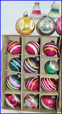 Huge Lot 65 Vintage Shiny Brite Christmas Ornaments Frosted ...