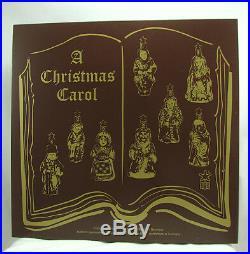 Inge Glas Boxed Set A Christmas Carol 1-009-07 German Glass Christmas Ornament