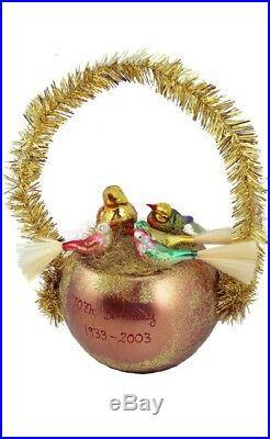 Inge Glas LE Rare! A Family Affair 1-132-03 German Glass Christmas Ornament