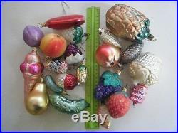 Italian Hand Blown Glass Christmas Ornaments Various Assorted Fruit & Veggies