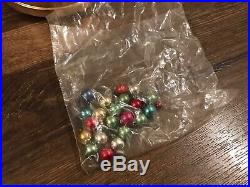 JAPAN MUSIC BOX SILVER Aluminum 20 CHRISTMAS Xmas Tree MERCURY Glass Ornaments