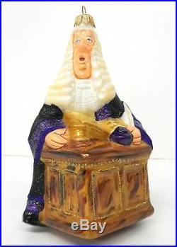 KOMOZJA FAMILY Judge Glass Ornament NEW Rare! CHRISTMAS Attorney Law Lawyer Gift