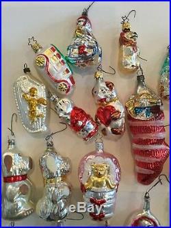 Large Lot Of 25 Vintage Mercury Glass Christmas Tree Ornaments Beautiful! Lot#1