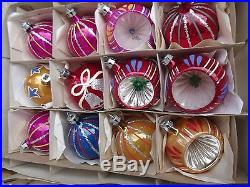 large vintage christmas decorations lot hand painted glass ornaments 1950u0027s