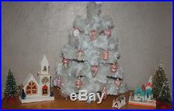 Lot of 12 Vintage German Christmas Ornaments Blown Glass Pink Santa UFO Lantern