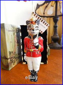 Mackenzie Childs SLY FOXWORTHY Christmas Ornament Chicken Palace Ball NEW / BOX