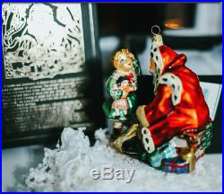 NEW KOMOZJA MOSTOWSKI FAMILY POLISH glass CHRISTMAS ORNAMENT