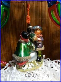 NEW KOMOZJA MOSTOWSKI FAMILY POLISH glass CHRISTMAS ORNAMENT KURT ADLER