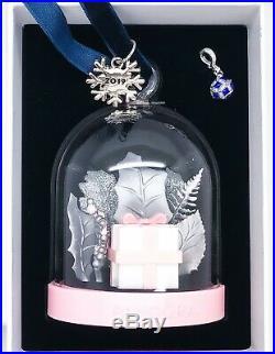 NEW PANDORA Winter Wonderland Glass, Blue Christmas Ornament Dangle Charm 2019