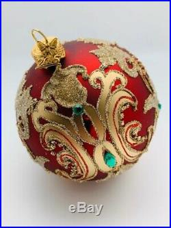 Neiman Marcus 2015 European Glass Christmas Ball Ornaments Set of 8