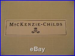New Mackenzie Childs Flying Angel Glass Christmas Tree Topper Finial