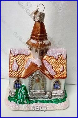 OLD WORLD CHRISTMAS NIB 6 Pc Wedding Newlywed Theme Glass Ornament Boxed Set SR