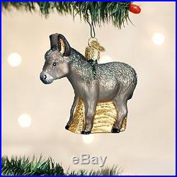 Old World Christmas Donkey Glass Blown Ornament, New