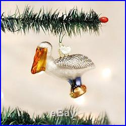 Old World Christmas Pelican Glass Blown Ornament, New